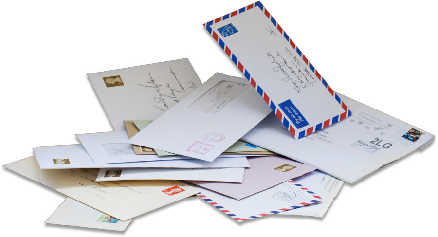 Letters addressed to six regional UK Mail Centre locations