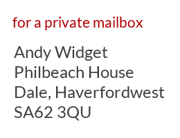 UK address example for a private mailbox account